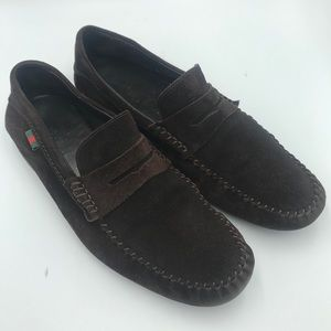 Gucci Corduroy Driving Loafers